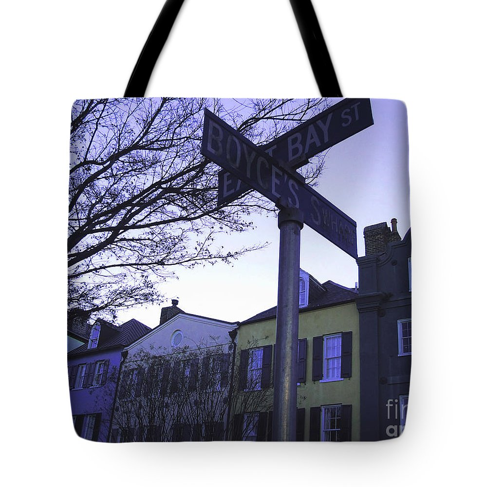 City Tote Bag featuring the photograph Night In Savannah by Andrea Anderegg