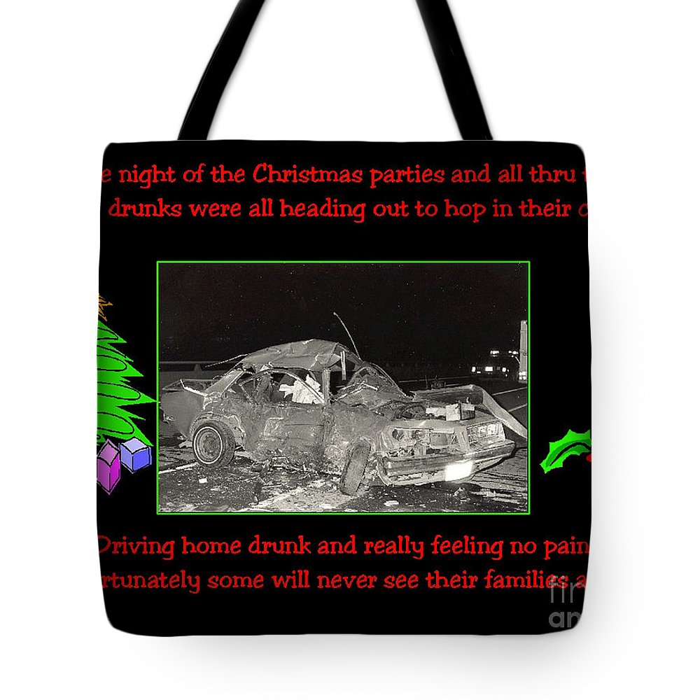 Accidents Tote Bag featuring the photograph Night Of Christmas by Randy Harris