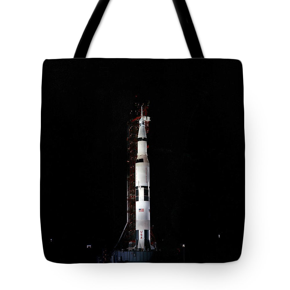 1969 Tote Bag featuring the photograph Nighttime View Of The Apollo 10 Space by Stocktrek Images