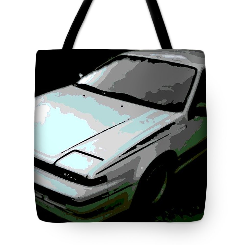 Nissan Tote Bag featuring the photograph Nissan Pulsar by George Pedro