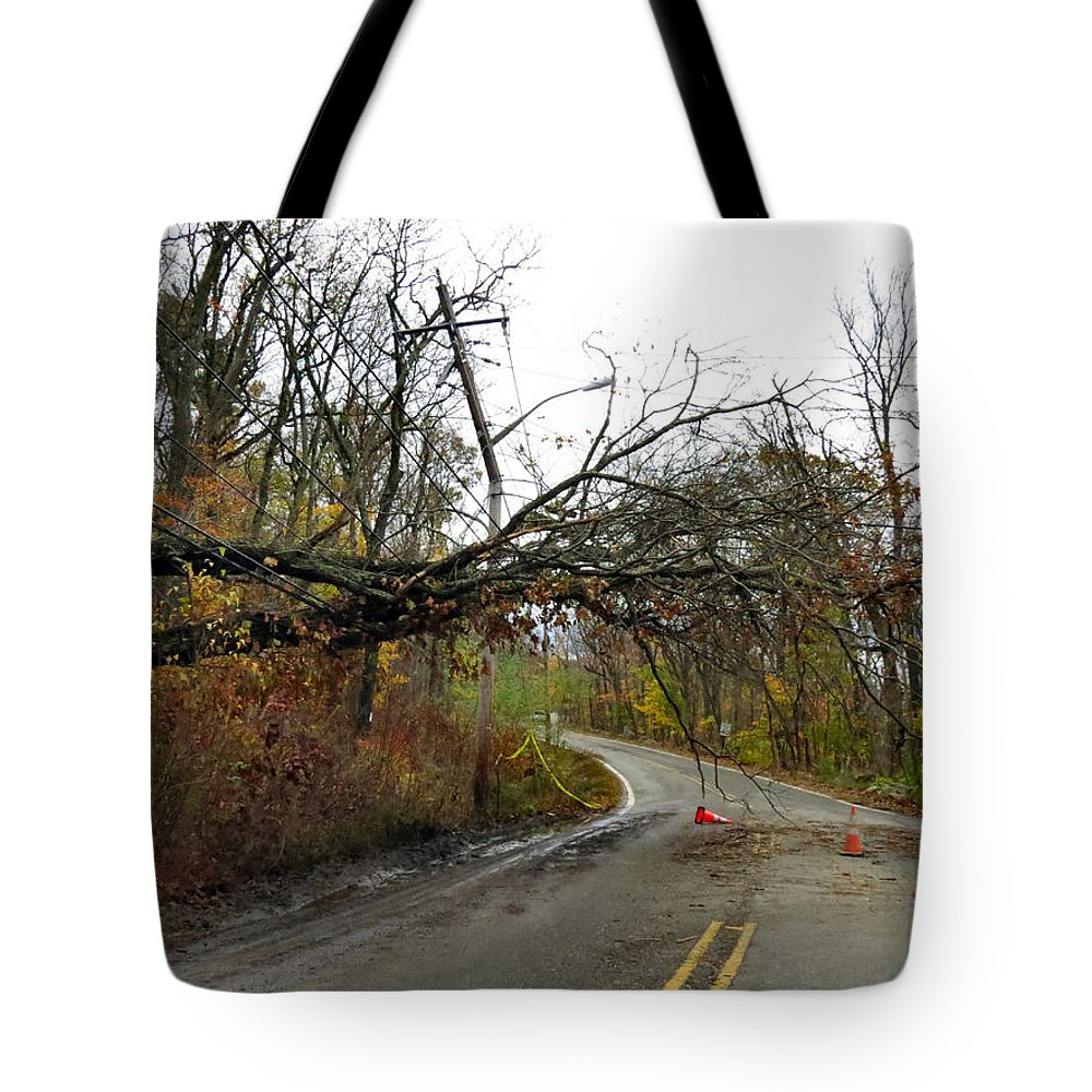 Wind Tote Bag featuring the photograph No Electricity by Art Dingo