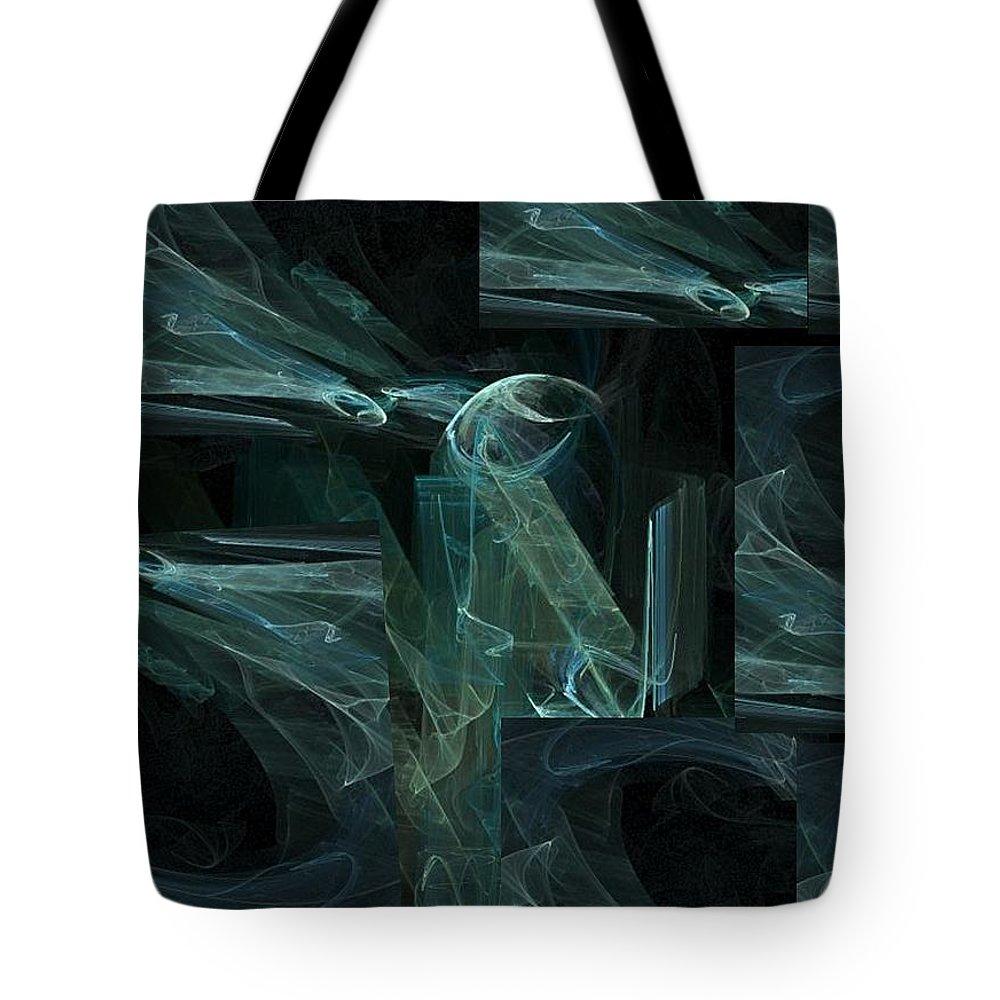 Blue Dreams Tote Bag featuring the digital art Noche Azul by Vicki Lynn Sodora