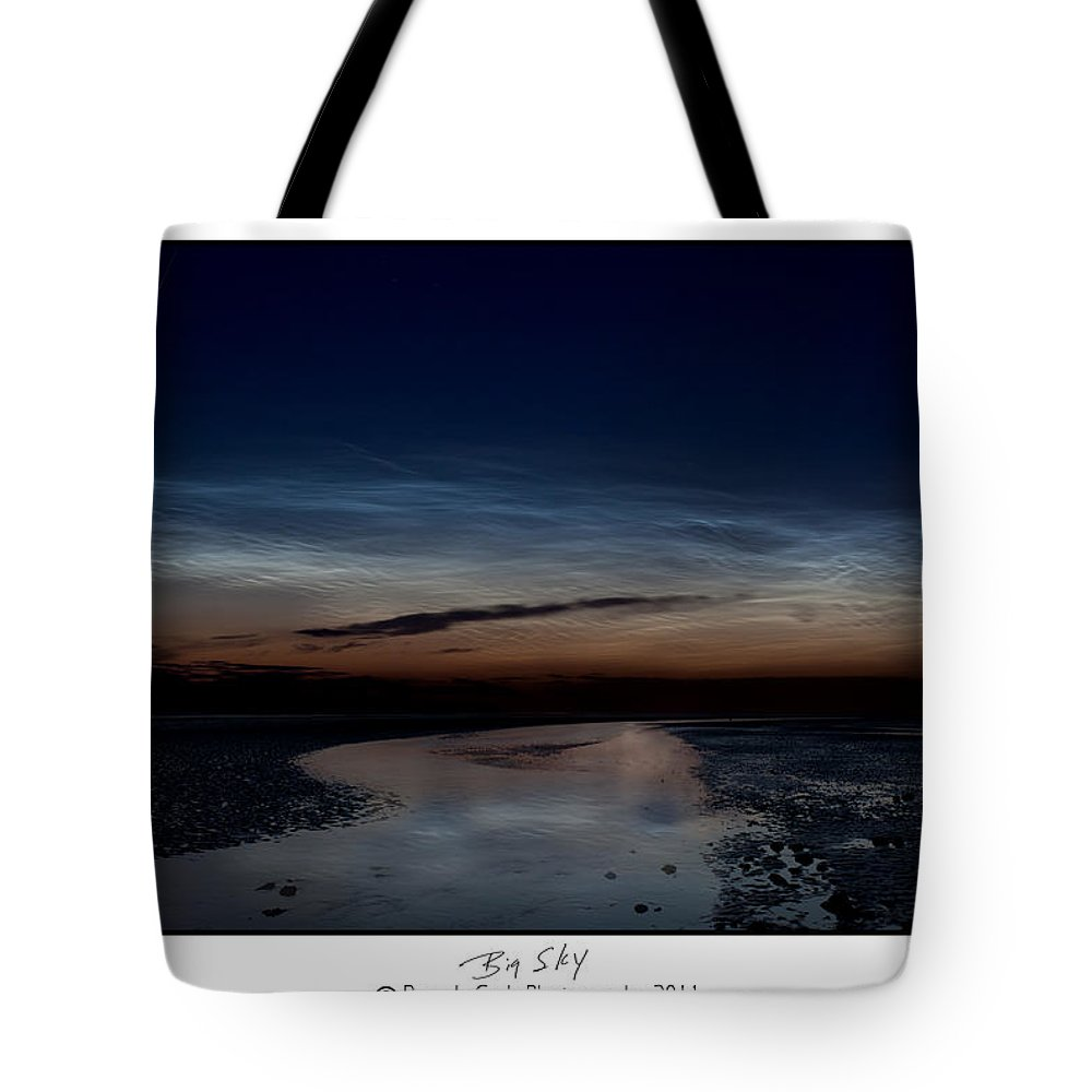 Noctilucent Clouds Tote Bag featuring the photograph Noctilucent Clouds And Shooting Star by Beverly Cash