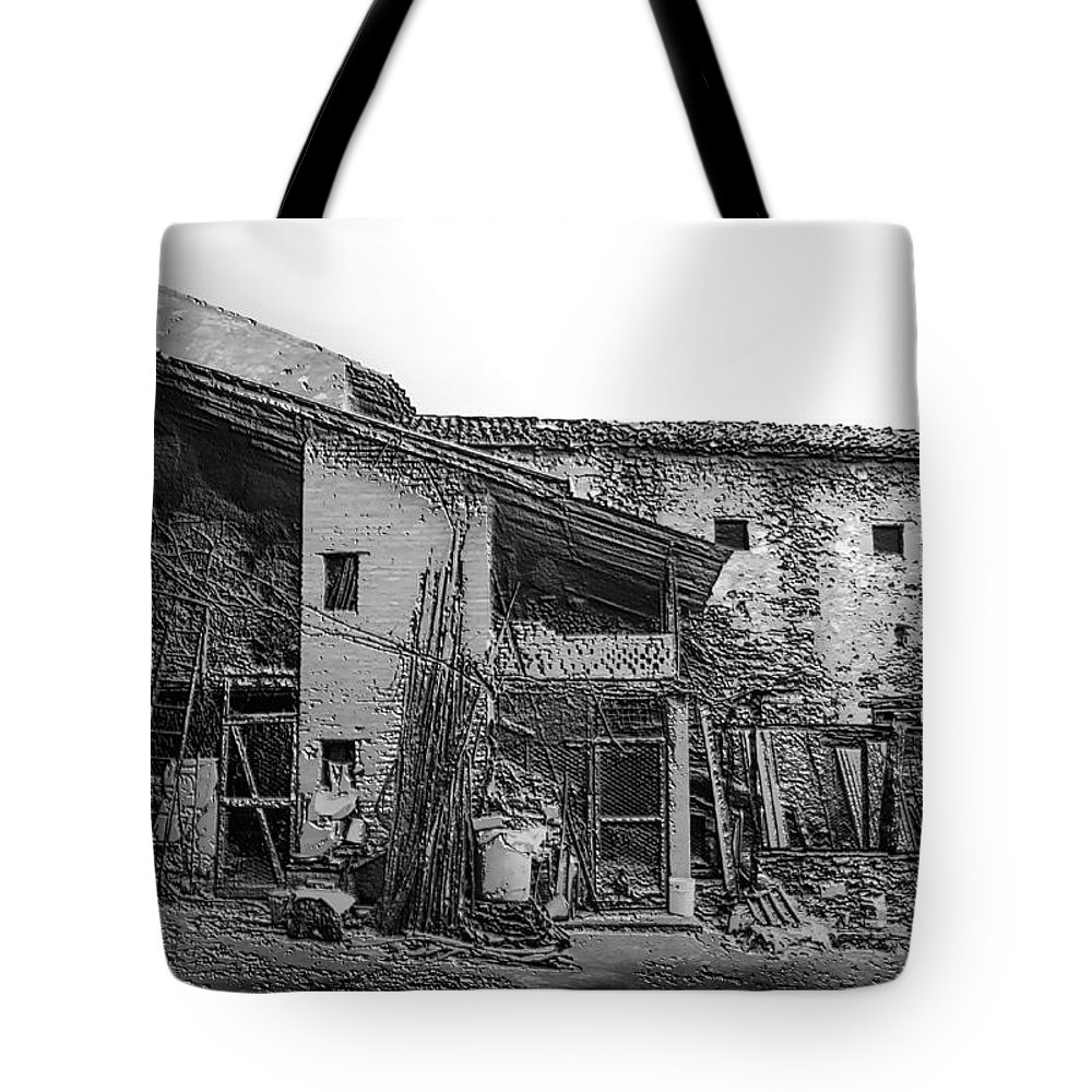 Art Tote Bag featuring the pyrography North Italy 4 by Mauro Celotti