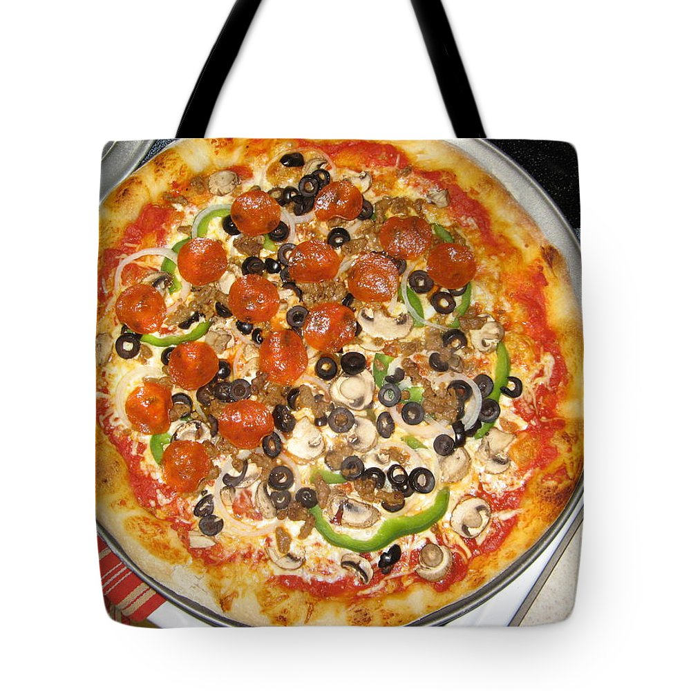 Pizza Tote Bag featuring the photograph Not Delivery by Rich Franco
