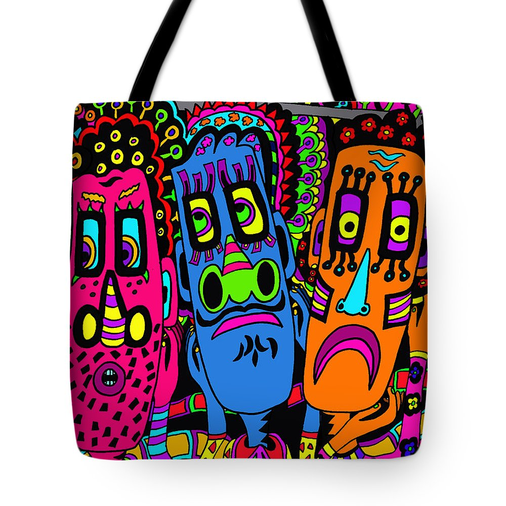 Life Tote Bag featuring the painting Not That Again by Karen Elzinga