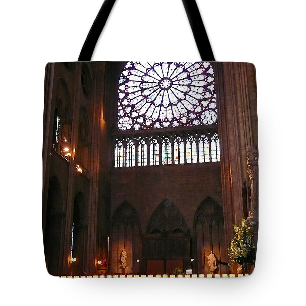 Candle Tote Bag featuring the photograph Notre Dame Votive Candles by Bob and Nancy Kendrick