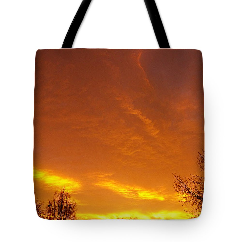 'sunrise Art Print' Tote Bag featuring the photograph November Sunrise by James BO Insogna