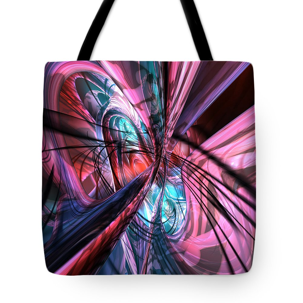 Canvas Tote Bag featuring the digital art Nu Tron Shade Fx by G Adam Orosco