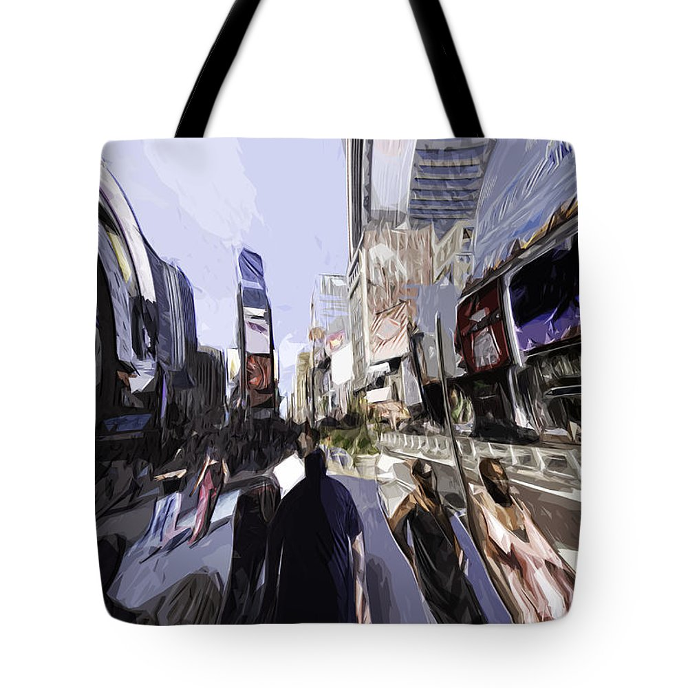 Nyc Tote Bag featuring the photograph Nyc Impression by Robert Ponzoni
