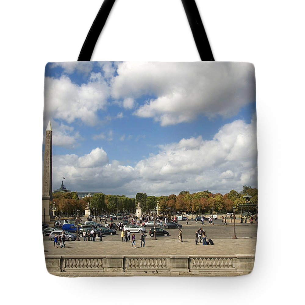 Paris Tote Bag featuring the photograph Obelisque Place De La Concorde. Paris. France by Bernard Jaubert