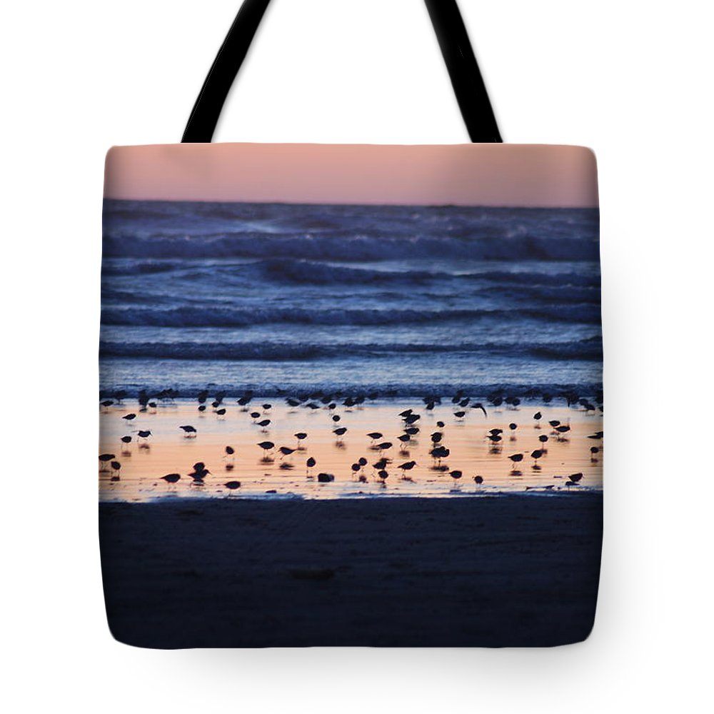 Sunset Tote Bag featuring the photograph Ocean Sunset by Michael Merry