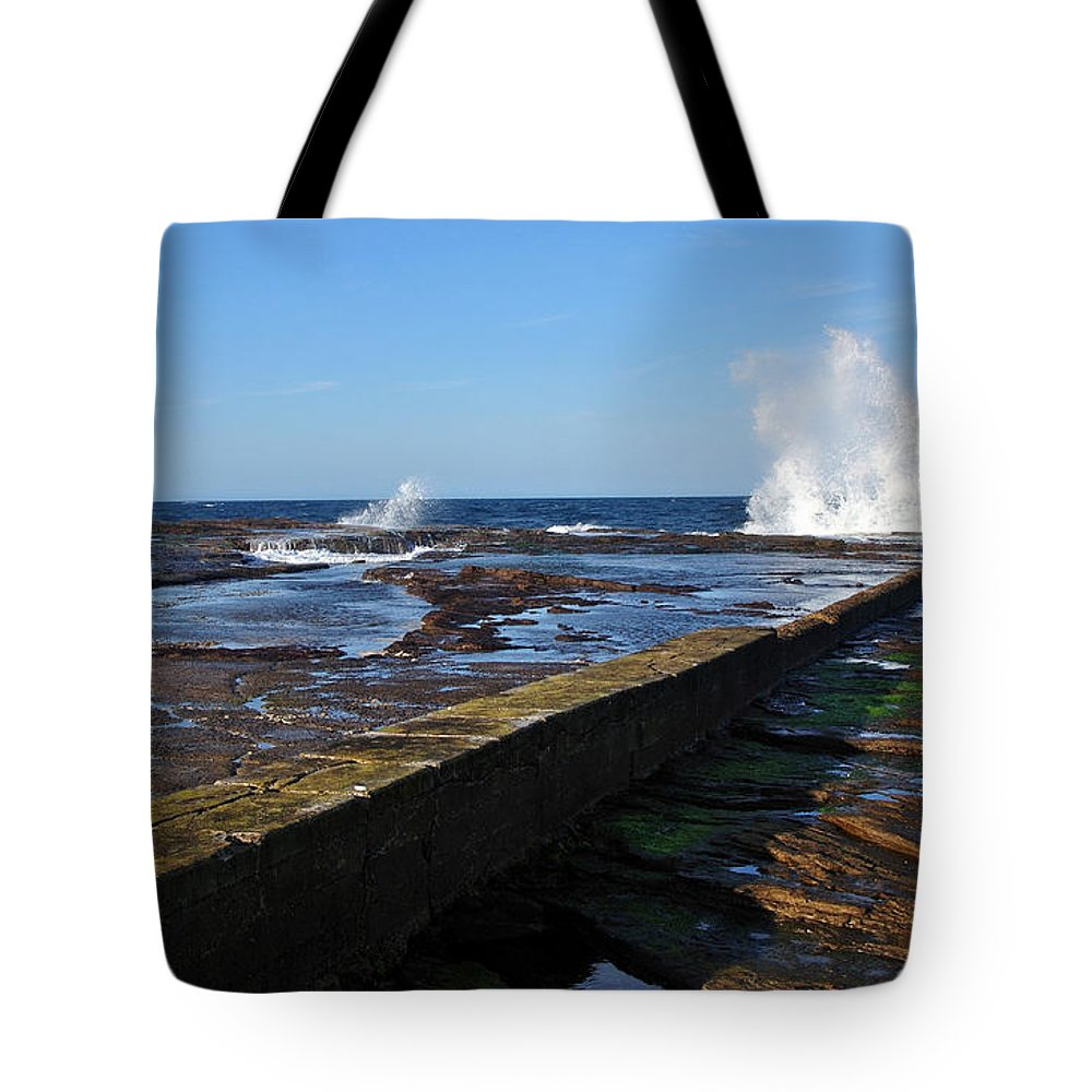 Photography Tote Bag featuring the photograph Ocean View by Kaye Menner