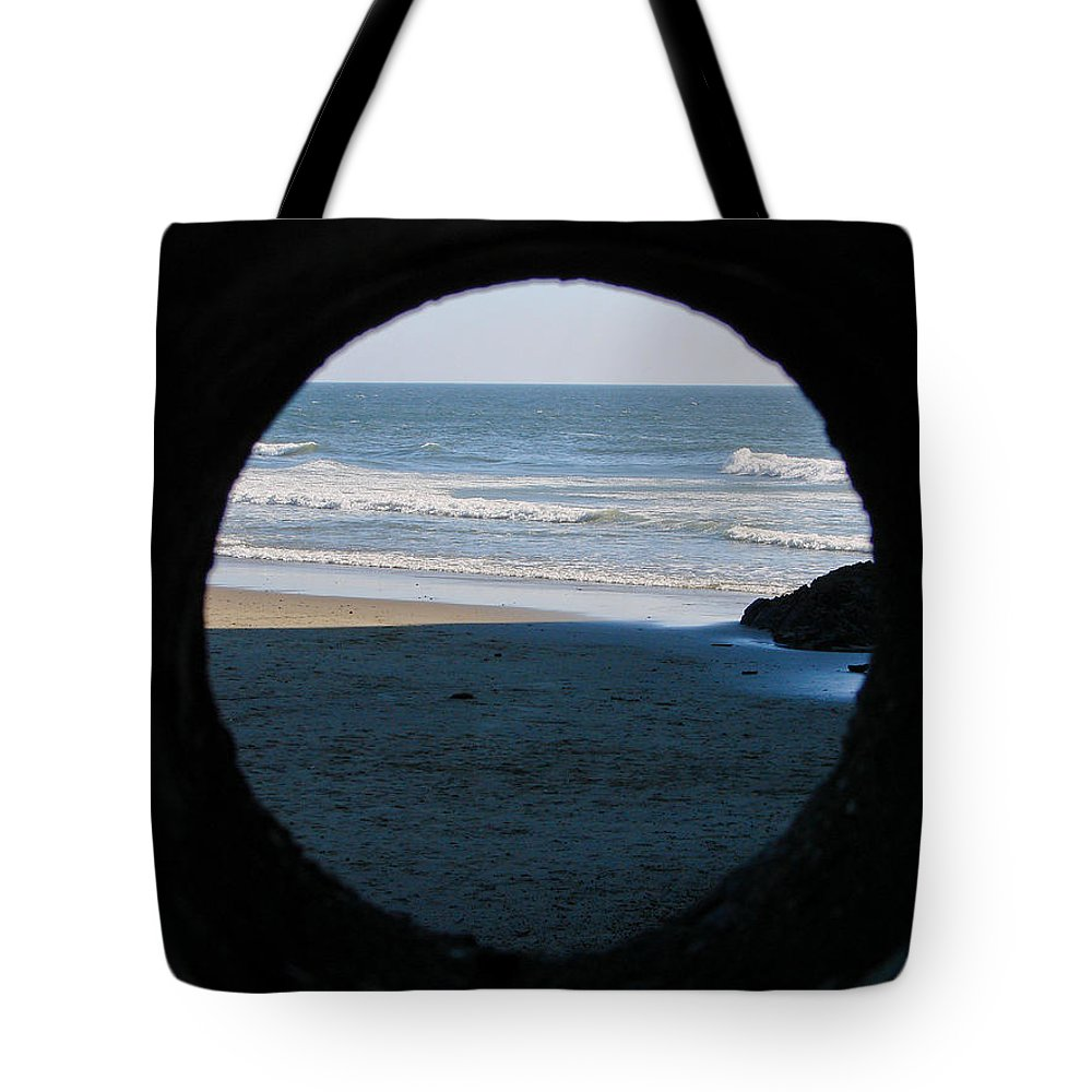 Beach Tote Bag featuring the photograph Ocean View by Athena Mckinzie