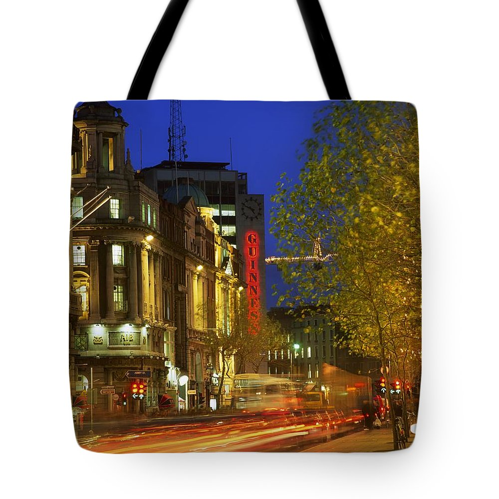 Automobile Tote Bag featuring the photograph Oconnell Street Bridge, Dublin, Co by The Irish Image Collection