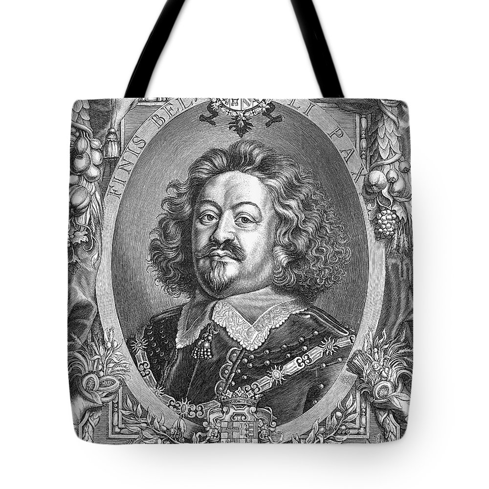 Army Tote Bag featuring the photograph Octavio Piccolomini by Granger