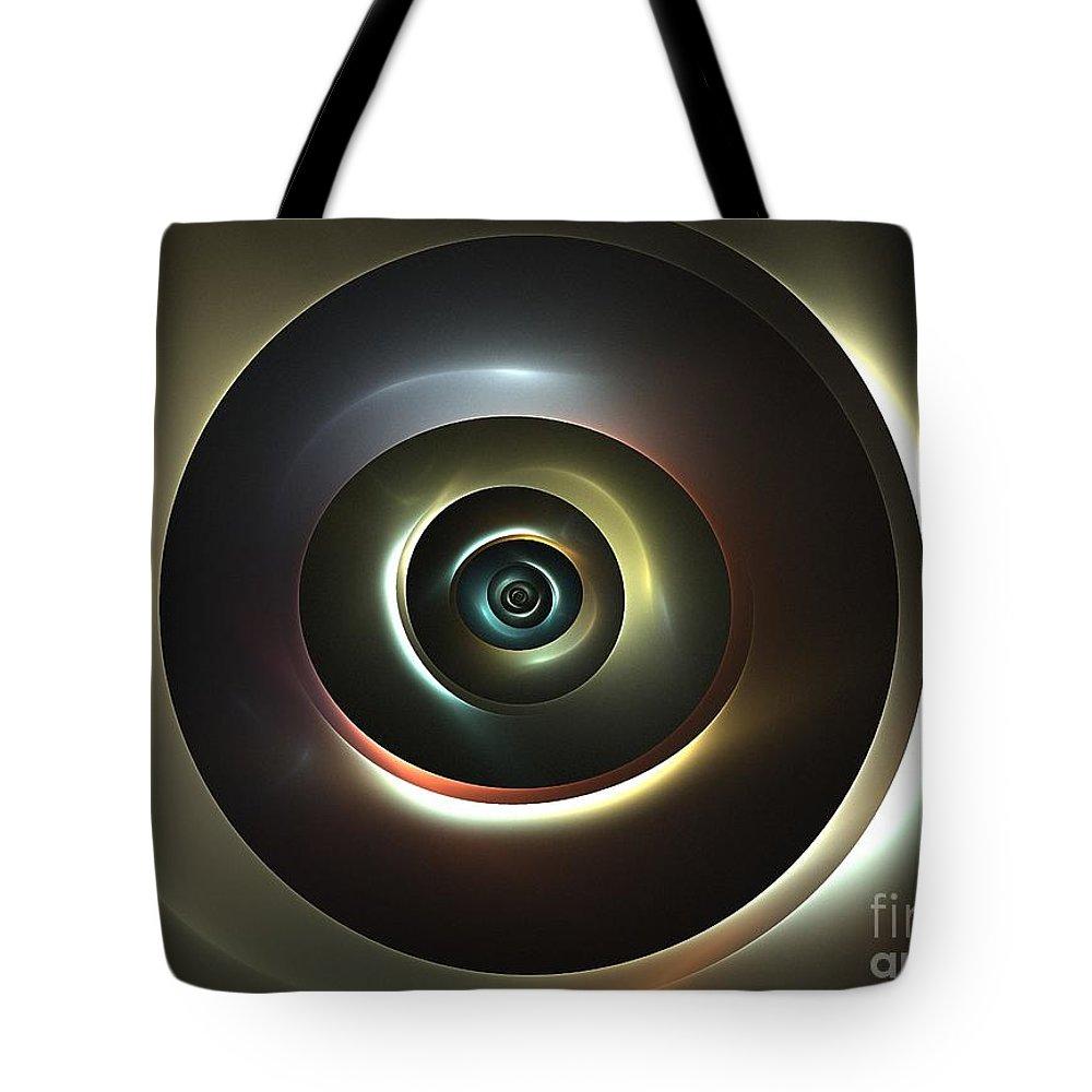 Apophysis Tote Bag featuring the digital art Ocular Lens by Kim Sy Ok
