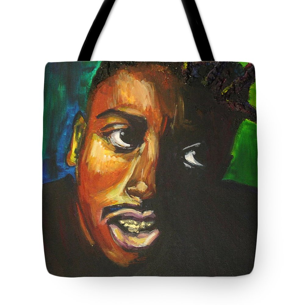 Ol' Dirty Bastard Tote Bag featuring the painting ODB by Kate Fortin