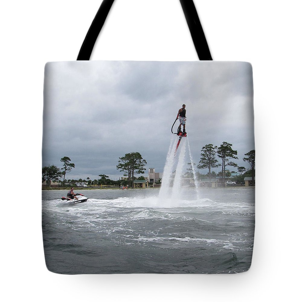 Jet Ski Tote Bag featuring the photograph Off We Go by Kent Dunning