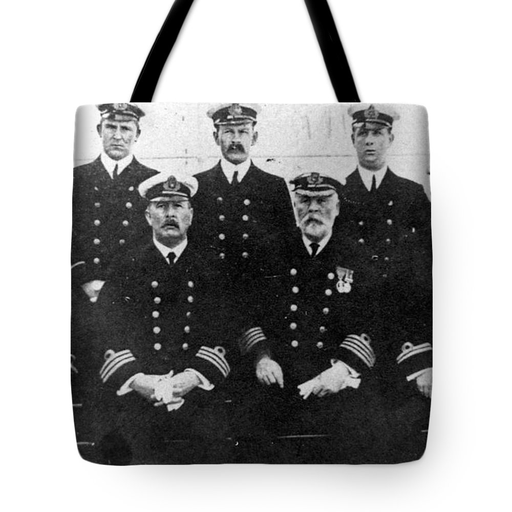 1912 Tote Bag featuring the photograph Officers Of The Titanic, 1912 by Granger