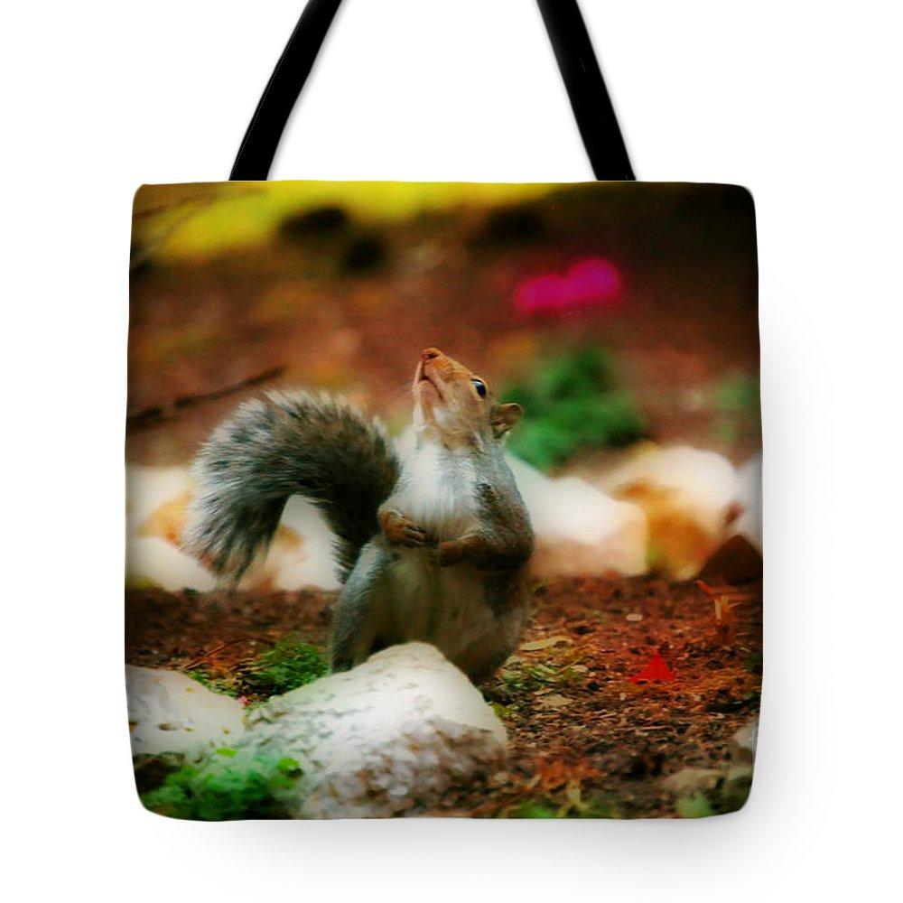 Landscape Tote Bag featuring the photograph Oh I Ate To Many Nuts by Peggy Franz