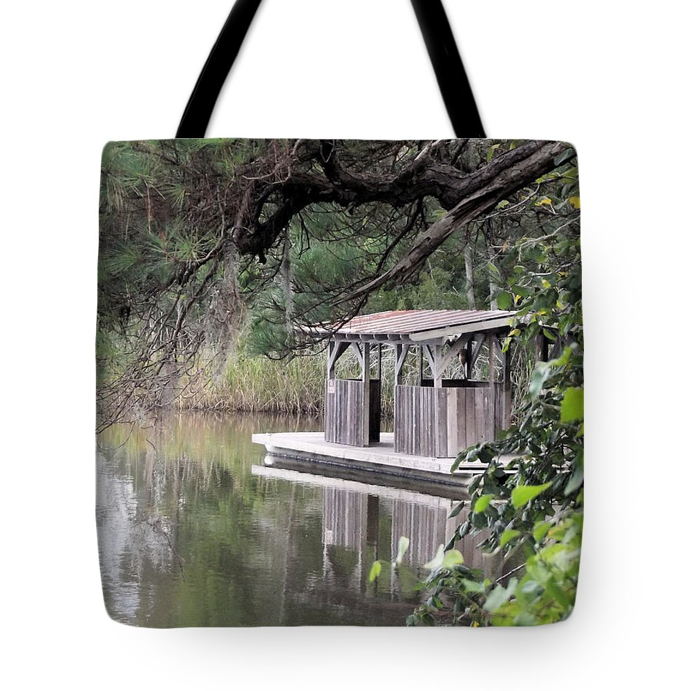 Boat House Tote Bag featuring the photograph Old Boat House by Jennifer Stockman