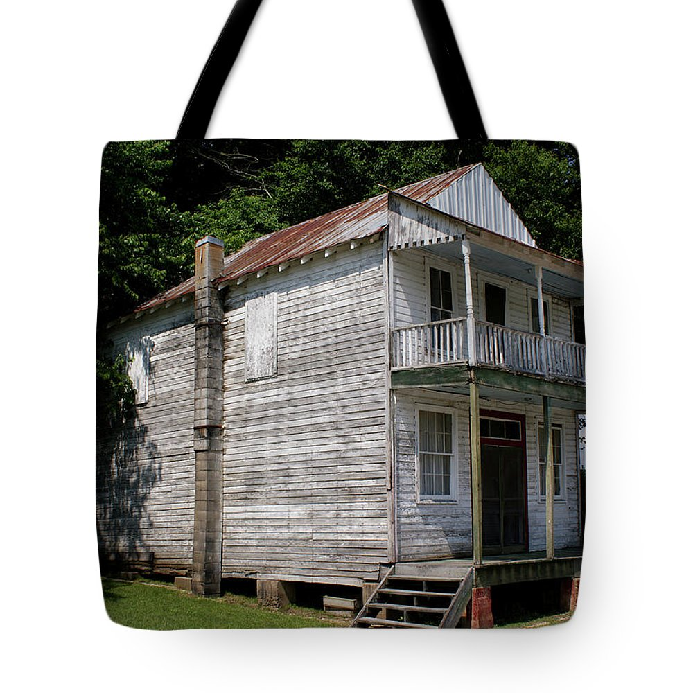 Cypress Inn Tote Bag featuring the photograph Old Cypress Inn by Paul Mashburn