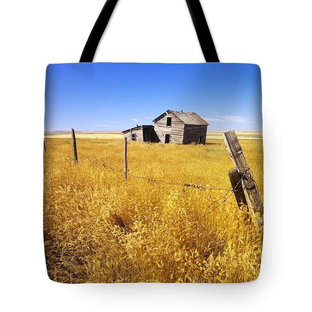 Daytime Tote Bag featuring the photograph Old Farmhouse by Dave Reede