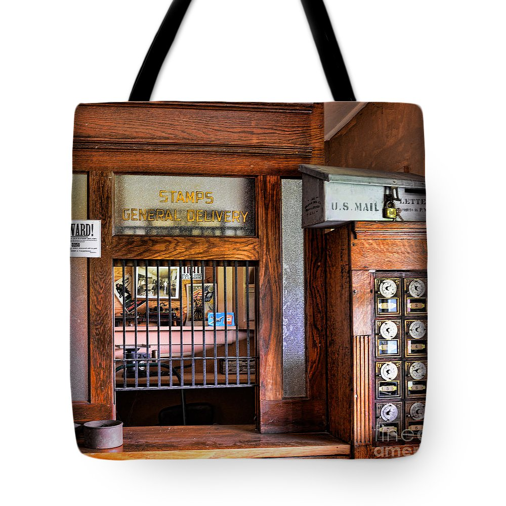 Paul Ward Tote Bag featuring the photograph Old Fashion Post Office by Paul Ward