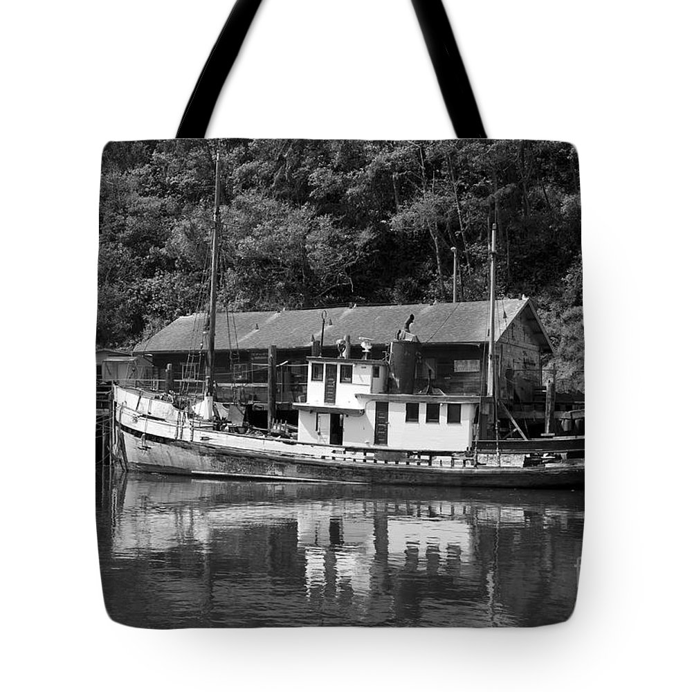 Bronstein Tote Bag featuring the photograph Old Fishing Boat by Sandra Bronstein
