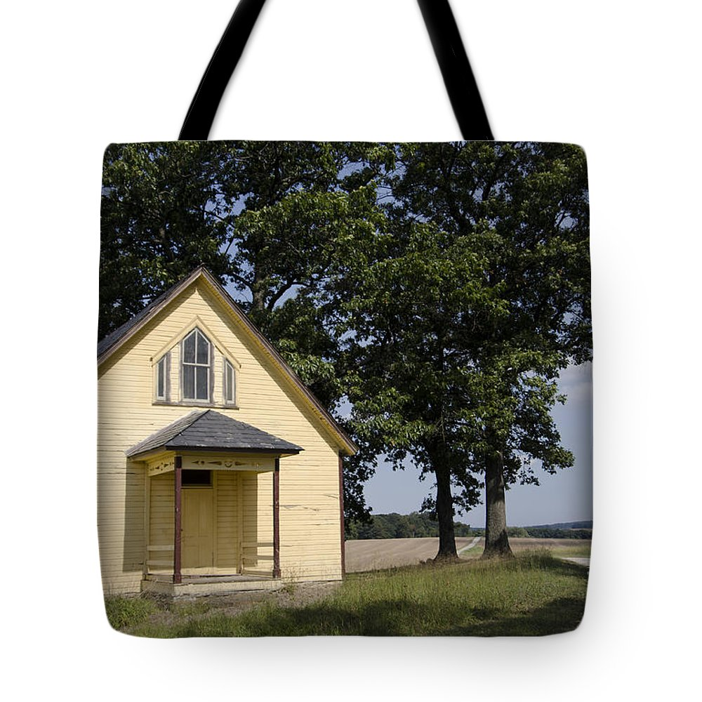 School House Tote Bag featuring the photograph Old School House 1 Of 2 by Terri Winkler