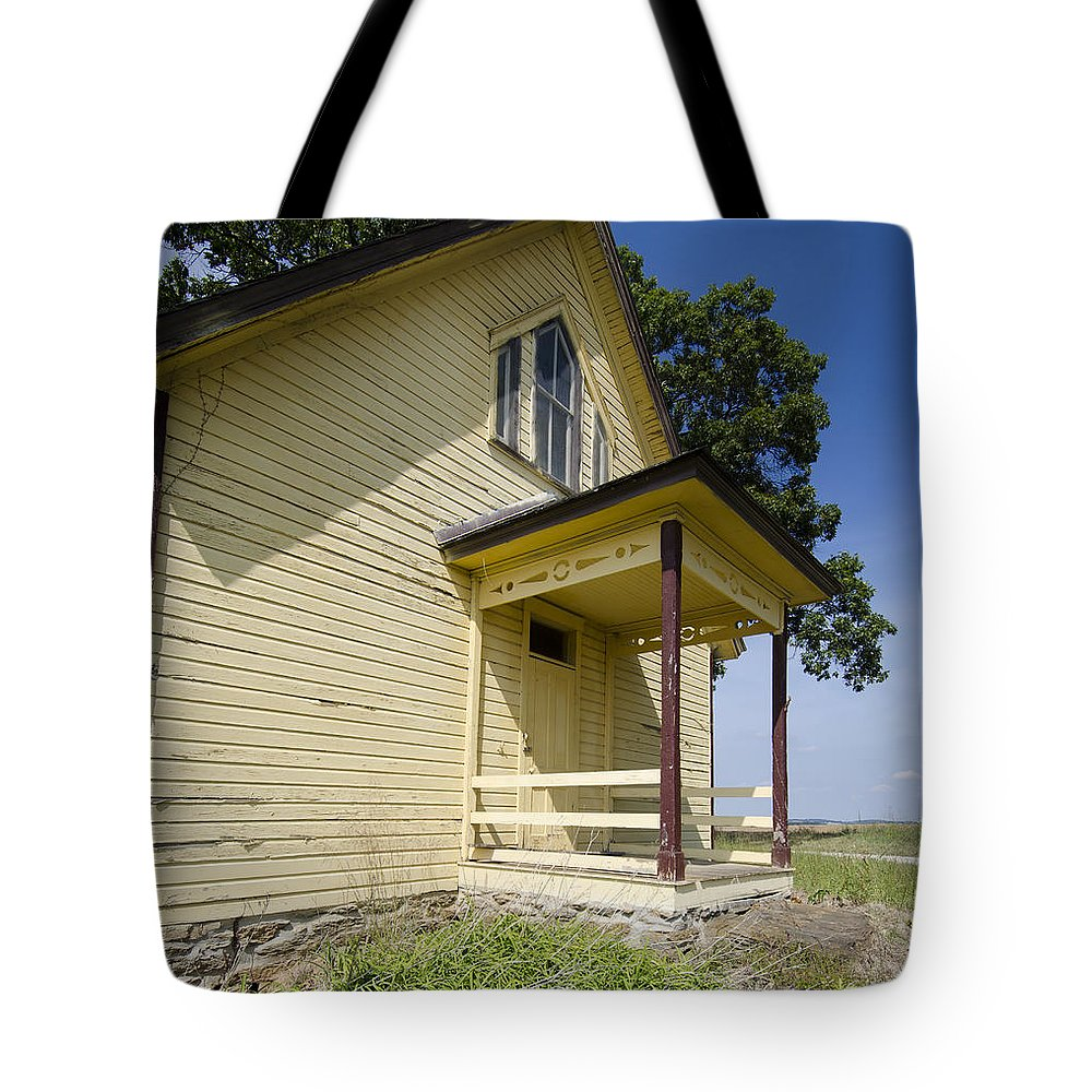 School House Tote Bag featuring the photograph Old School House 2 Of 2 by Terri Winkler
