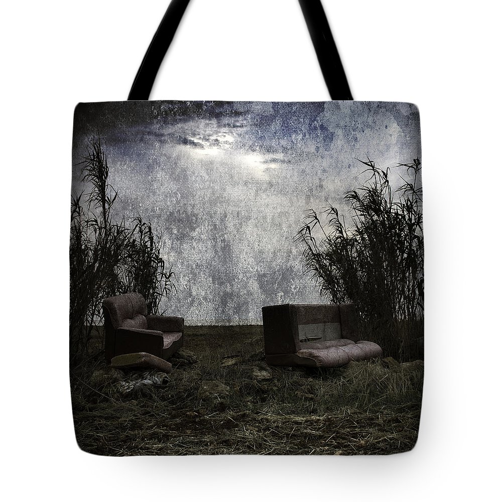 Architecture Tote Bag featuring the photograph Old Sofas by Stelios Kleanthous
