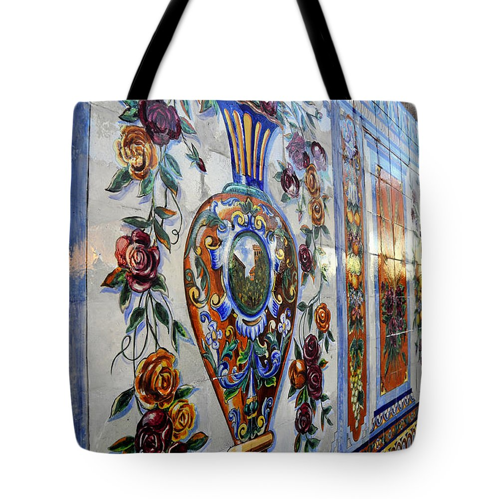 Ybor City Florida Tote Bag featuring the photograph Old Spanish Tiles by David Lee Thompson