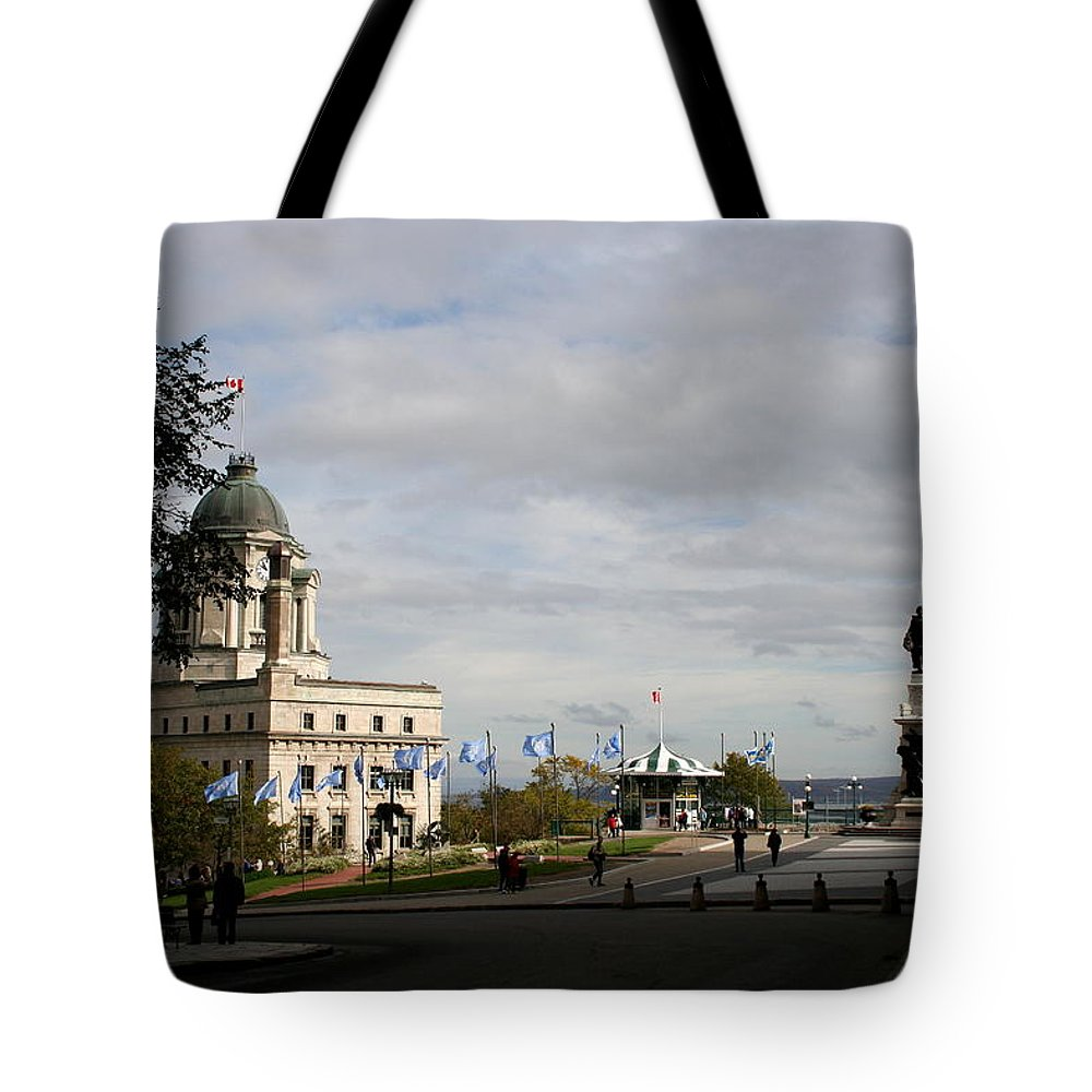 Old Town Tote Bag featuring the photograph Old Town Quebec by Christiane Schulze Art And Photography
