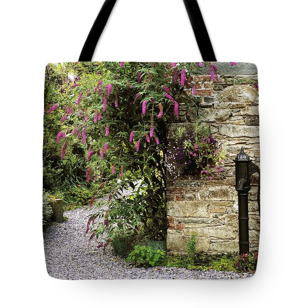 Color Image Tote Bag featuring the photograph Old Water Pump, Ram House Garden, Co by The Irish Image Collection