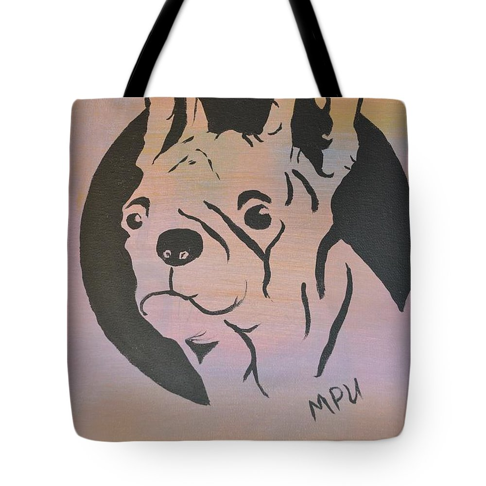 Boston Terrier Tote Bag featuring the painting Ole Fella by Maria Urso