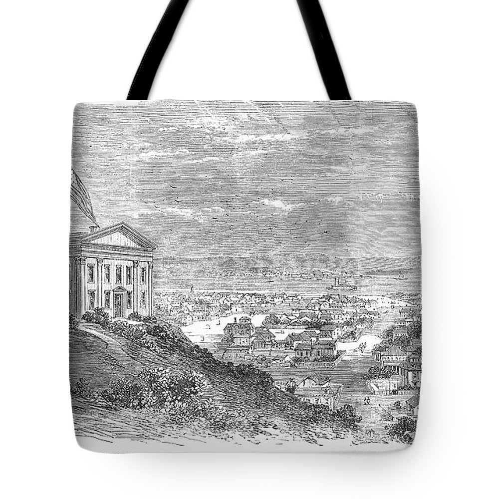 1869 Tote Bag featuring the photograph Omaha, Nebraska, 1869 by Granger