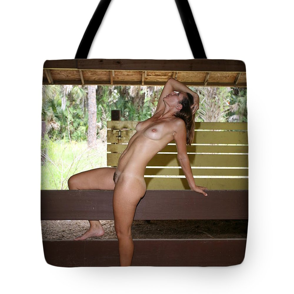 Everglades City Fl.professional Photographer Everglades City Fl. Photographer Everglades City Glamour Everglades City Beauty Everglades City Photographer Lucky Cole Angels Sexy Exotic Natural Beauty Glamorous Environmental Portraits Female Natural Settings Exotic Beauty Wildlife  Everglades City Florida Naples Florida Professional Photographer Lucky Cole Loop Road Tote Bag featuring the photograph On The Fence 840 by Lucky Cole