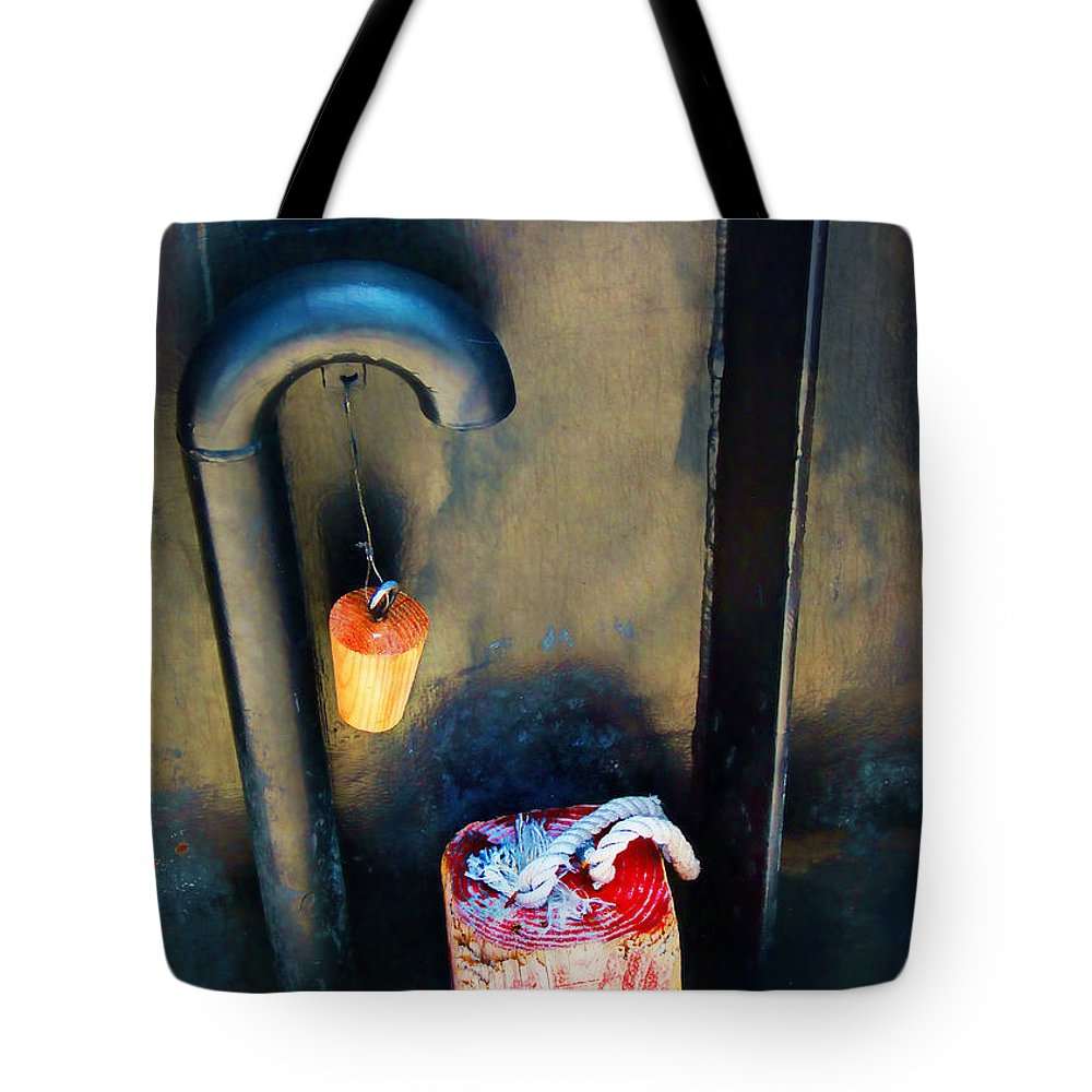 Chock Tote Bag featuring the photograph On The Ferry by Judi Bagwell