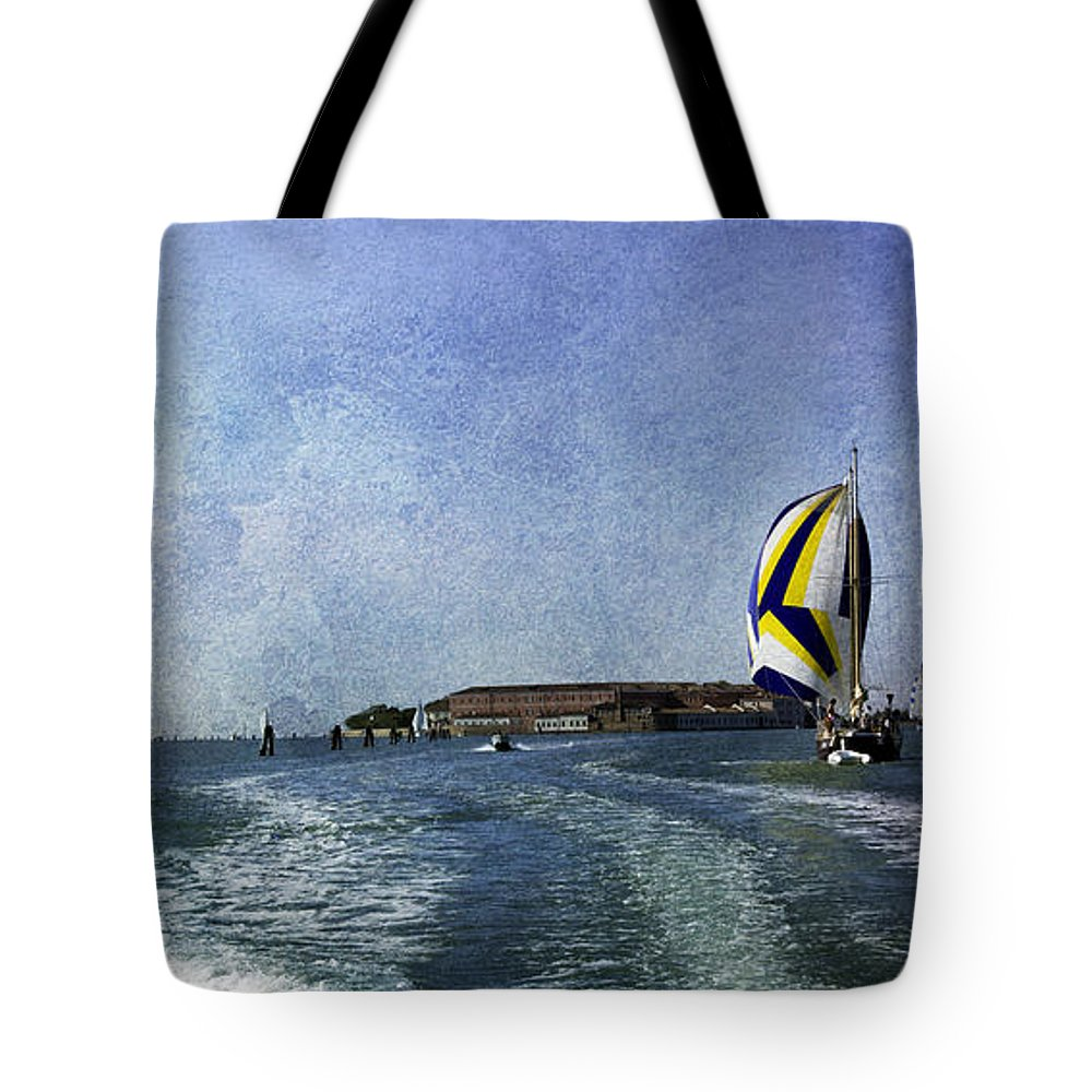 Venice Tote Bag featuring the photograph On The Water 2 - Venice by Madeline Ellis