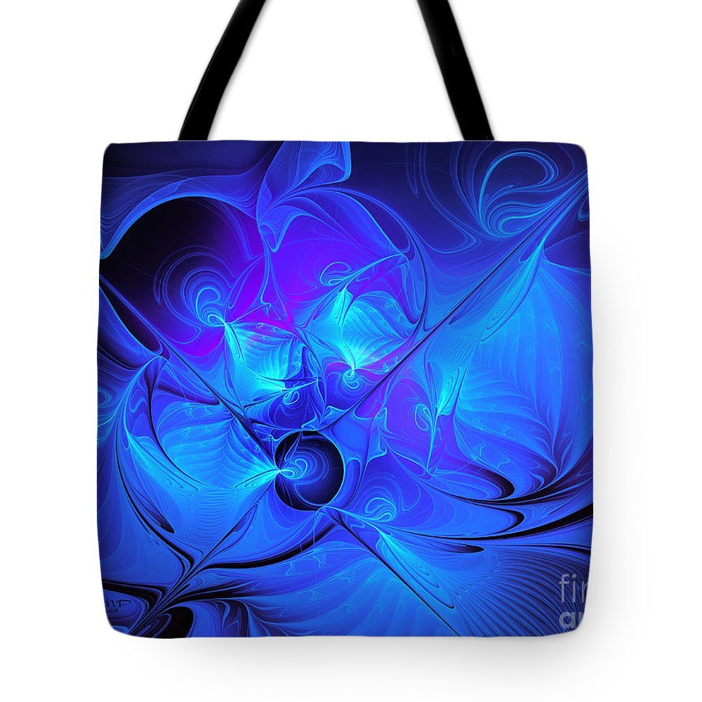 Fractal Tote Bag featuring the photograph Once In A Blue Moon by Jutta Maria Pusl