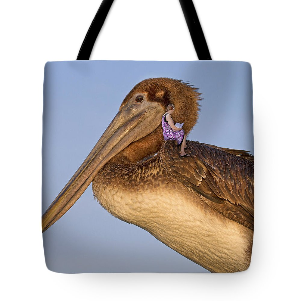 Brown Tote Bag featuring the digital art Once Upon A Time by Betsy Knapp