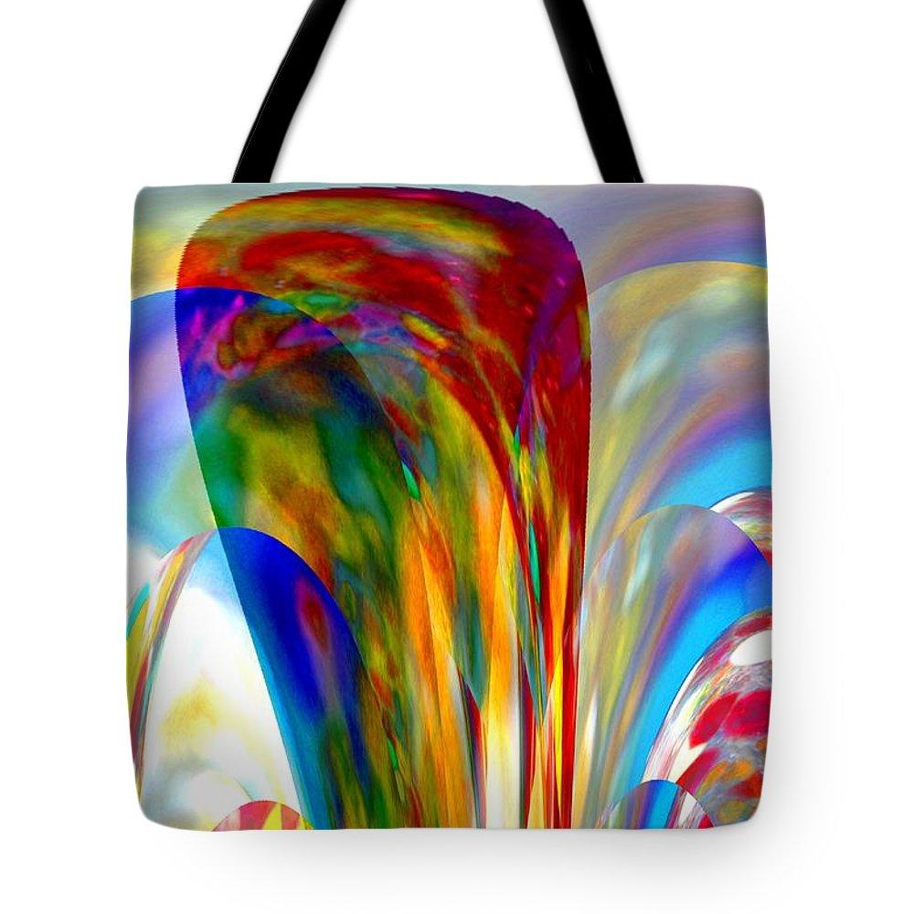 Summer Tote Bag featuring the digital art One Summer Dream by Maria Urso