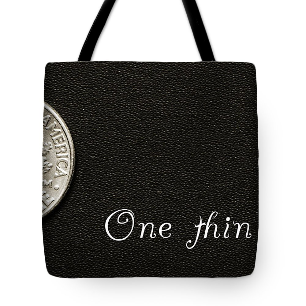 Fine Art Tote Bag featuring the photograph One Thin Dime by Andee Design