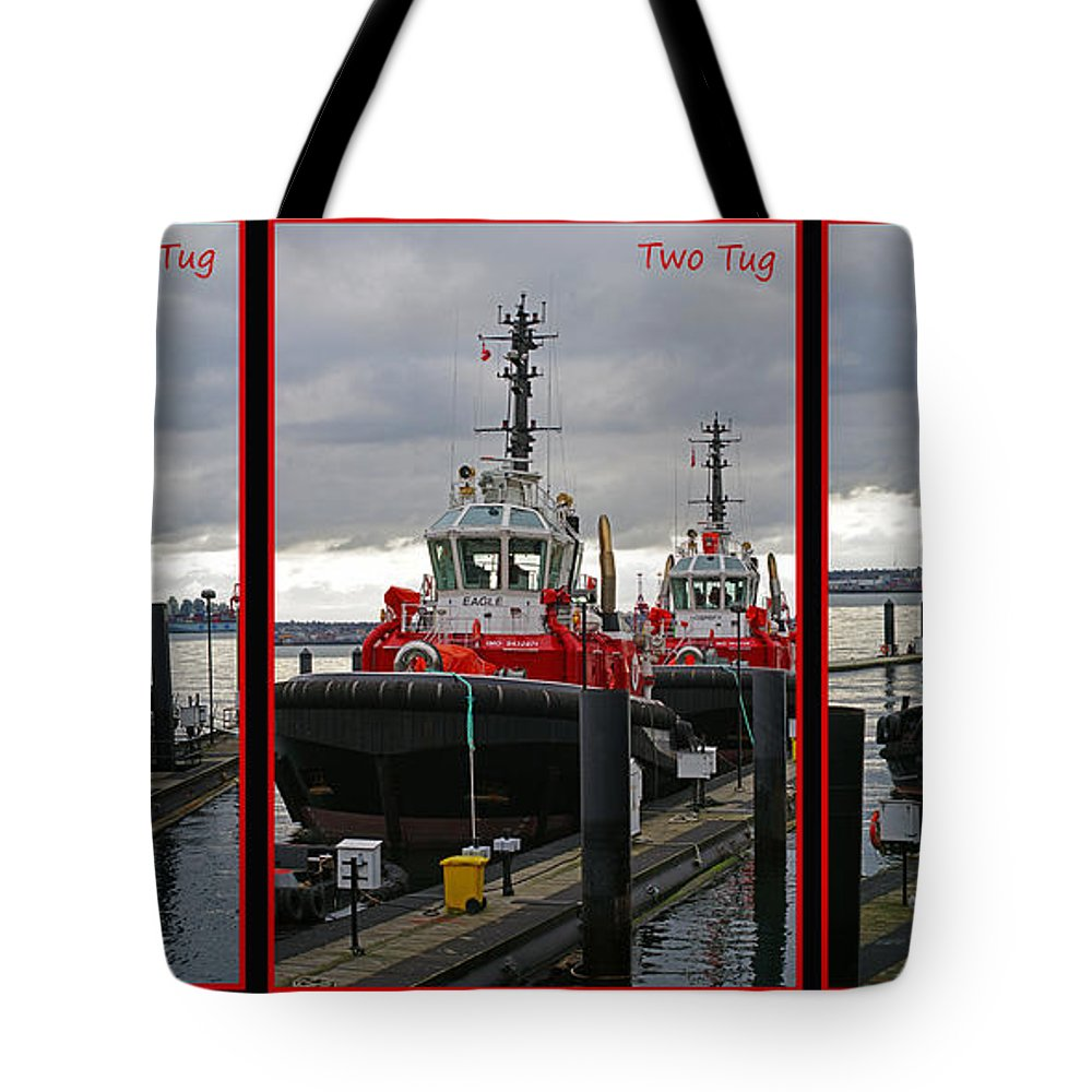 Tugs Tote Bag featuring the photograph One Tug Two Tug Three Tug More by Randy Harris
