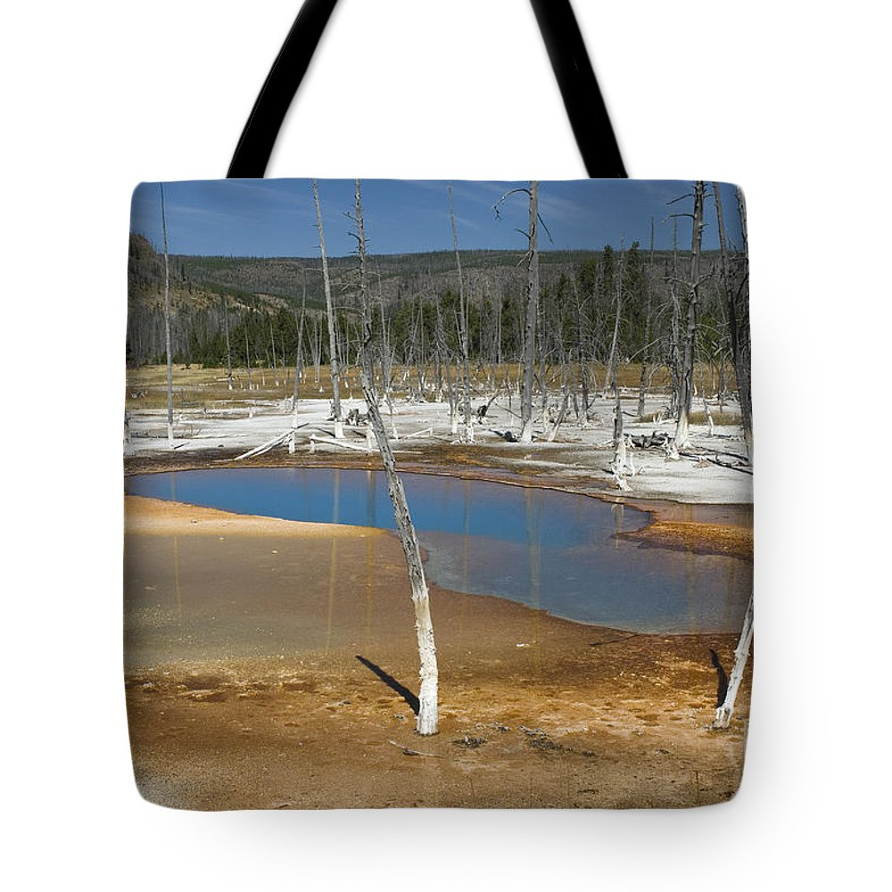 Bronstein Tote Bag featuring the photograph Opalescent Pool Of Yellowstone by Sandra Bronstein