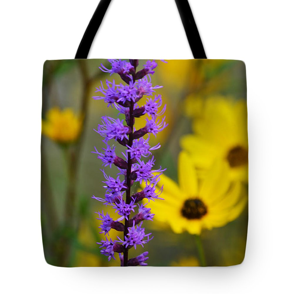 Wildflower Tote Bag featuring the photograph Opposites Attract by Melanie Moraga