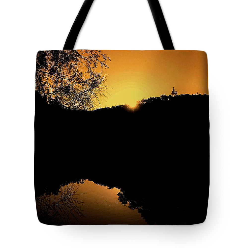 Photography Tote Bag featuring the photograph Orange Glow by Kaye Menner