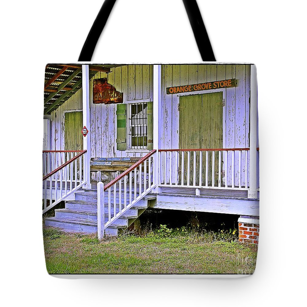 Old Tote Bag featuring the photograph Orange Grove Store by Judi Bagwell